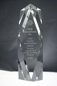 HOBI Receives AT&T 2016 Supplier Sustainability Award